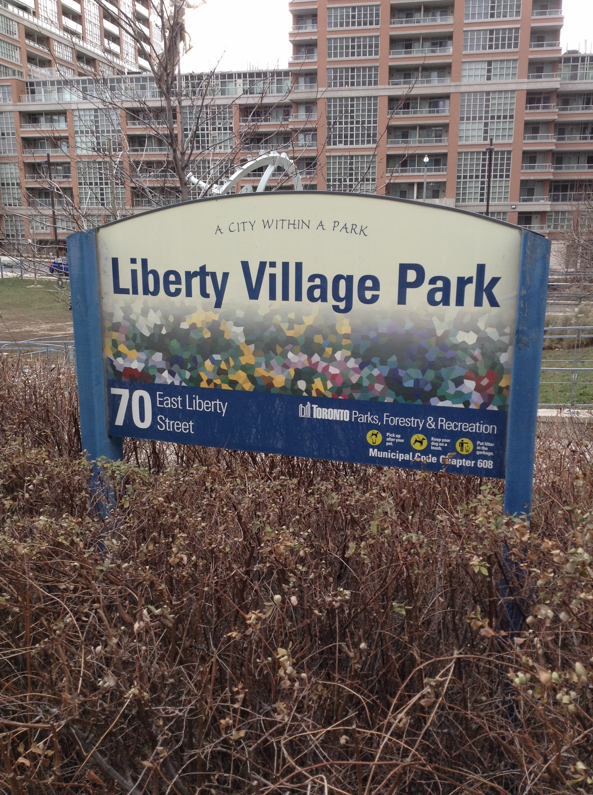 One of Liberty VIllage's three parks