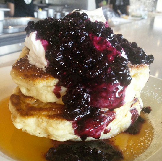 Brunch like a champ with fluffy pancakes like this. Photo via mildredstemplekitchen.com