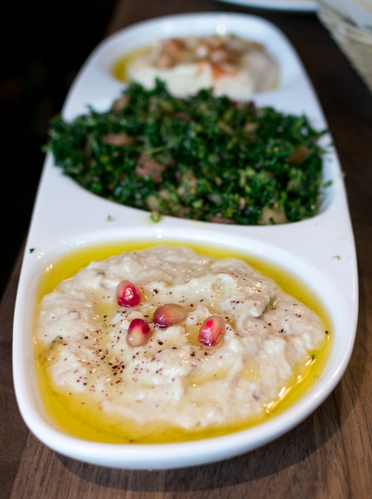 Mezza Plate  (Hummus, Moutabbal, Tabbouleh) - Photo from Hangryfoodies