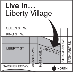 Liberty on the park map